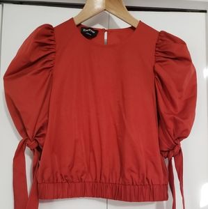 BeBe red maroon crop top size small